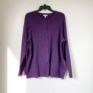 🌻 3/$20 Croft & Barrow Purple Buttoned Cardigan